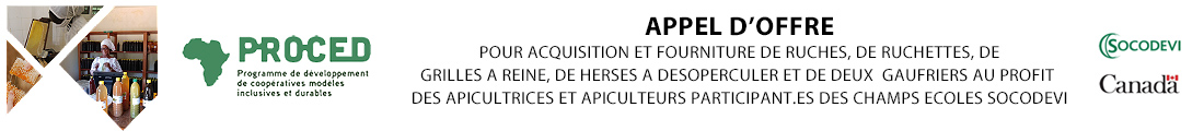 APPEL D'OFFRE PROCED - SOCODEVI (Senegal)
